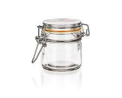 BANQUET Dóza skleněná hermetická LINA 100 ml, oranžová