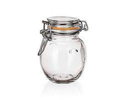 BANQUET Dóza skleněná hermetická LINA 120 ml, oranžová