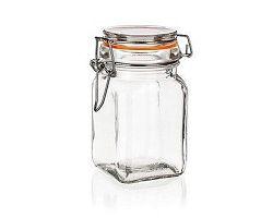 BANQUET Dóza skleněná hermetická LINA 250 ml, oranžová