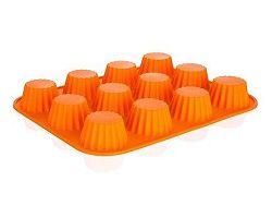 BANQUET Forma na 12 košíčků silikonová Orange 32x24x3,4 cm