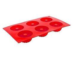 BANQUET Forma na 6 báboviček silikonová Red 29,5x17,5x3,5 cm