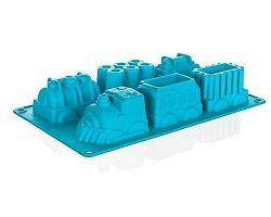BANQUET Forma silikonová Tyrkys 29,5x17,3x4,3 cm, vláčky