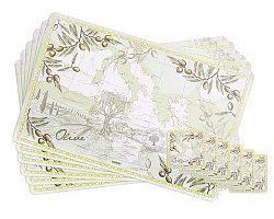 Banquet Olives Sada plastového prostírání 12 ks 12CF43289SET