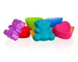 BANQUET Sada silikonových formiček 3,3 cm, 8 ks, mix barev