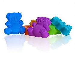 BANQUET Sada silikonových formiček 7,5 cm, mix barev, méďa