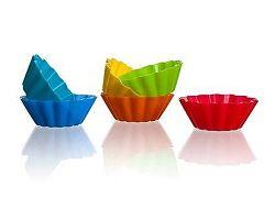 BANQUET Sada silikonových košíčků 5,3 cm, 6ks, mix barev