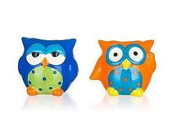BANQUET Sada univerzálních keramických dóz OWL 6,7 x 5,8 x 5,4 cm, 2 ks