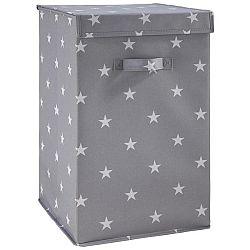 Box Sandy V Šedé S Vrchnákem 30x30x30 Cm