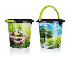 BRILANZ Kbelík plastový ECO 10 l, mix dekorů