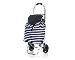BRILANZ Nákupní taška na kolečkách 87 x 35 x 28 cm, černý pruh