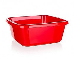 BRILANZ Umyvadlo plastové 34 x 34 x 13,5 cm, 10 l, červené