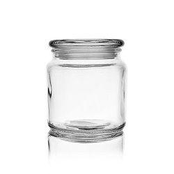 Dóza sklo s víkem 0,58 l kulatá
