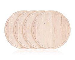 HAPPY GREEN Sada krájecích dřevěných prkének BBQ 22 cm, 4 ks