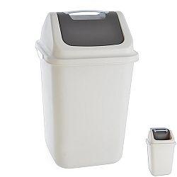 Koš odpadkový plastový s kolíbkou DUST 12 L