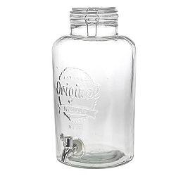 Láhev sklo+kohoutek 8,7 l