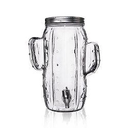 Láhev sklo+kohoutek KAKTUS 4 l