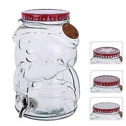 Láhev sklo+kohoutek SANTA 4 l