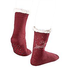 Magnet 3Pagen 1 pár vánočních ponožek s nopky bordó