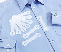 Magnet 3Pagen 10 průsvitných svorek na kravatu