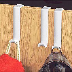 Magnet 3Pagen 10 šatních háčků na dveře bílá