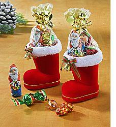 Magnet 3Pagen 2 boty Santa Clause plněné cukrovinkami