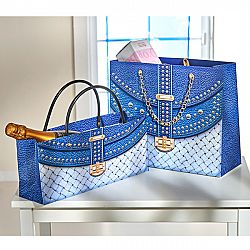 Magnet 3Pagen 2 dárkové tašky, modrá