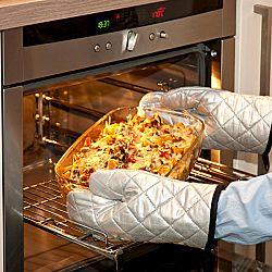 Magnet 3Pagen 2 kuchyňské chňapky, stříbrná