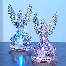 Magnet 3Pagen 2 LED svíticí andělé
