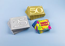Magnet 3Pagen 20 ubrousků Happy Birthay 33x33cm