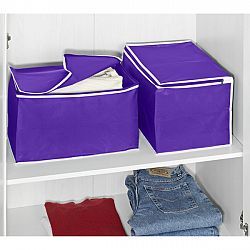 Magnet 3Pagen 2dílný set úklidových boxů, lila