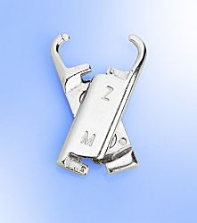 Magnet 3Pagen 3 úchyty k zipu, stříbrná barva