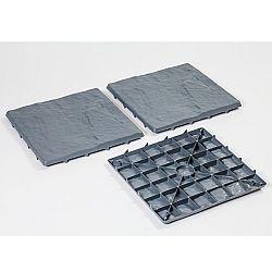 Magnet 3Pagen 4 zahradní dlaždíce, břidlicově šedá