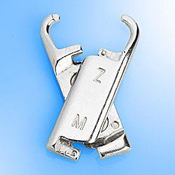 Magnet 3Pagen 6 úchytů k zipu, stříbrná barva