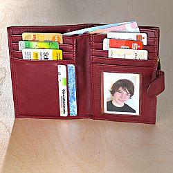Magnet 3Pagen Dámská peněženka bordó