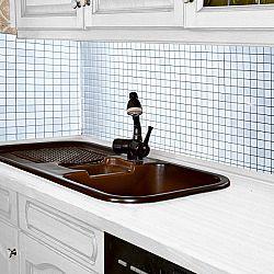 Magnet 3Pagen Dekorativní mozaika bílá/stříbrná 70x42cm