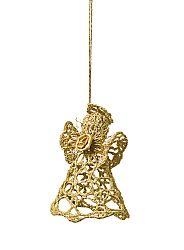 Magnet 3Pagen Háčkovaný anděl zlatá 10cm