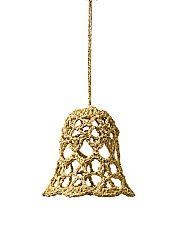 Magnet 3Pagen Háčkovaný zvonek zlatá 7,5cm