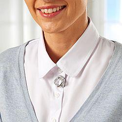Magnet 3Pagen Klip na šátek stříbřitá