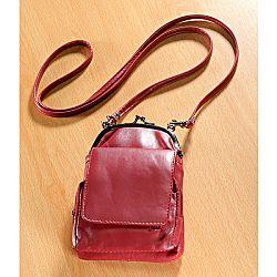 Magnet 3Pagen Kožená kabelka, červená