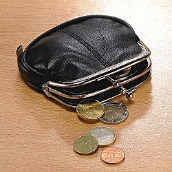 Magnet 3Pagen Kožená peněženka, černá