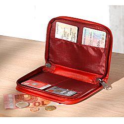 Magnet 3Pagen Kožená peněženka, černá červená 19x11cm