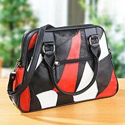 Magnet 3Pagen Kožená tříbarevná taška