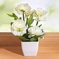 Magnet 3Pagen Květina v květináči bílá