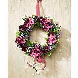 Magnet 3Pagen Květinový věnec, temně růžová