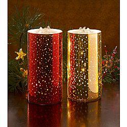 Magnet 3Pagen LED svíčka s fontánkou, červená zlatá barva