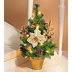 Magnet 3Pagen LED vánoční stromeček, zlatavá zlatá