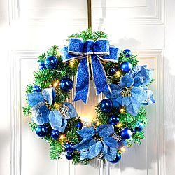 Magnet 3Pagen LED vánoční věnec, královská modrá královská-modrá