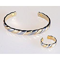 Magnet 3Pagen Magnetický prsten zlaté a stříbrné barvy