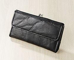 Magnet 3Pagen Patchworková peněženka, černá