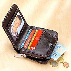 Magnet 3Pagen Patchworková peněženka hnědá